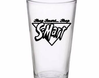 Shop Smart Shop S-Mart Army of Darkness Evil Dead Pint Wine Glass Tumbler Alcohol Drink Cup Barware Halloween Merch Massacre