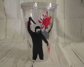 Michael Myers Halloween Horror Tumbler Cup Gift Home Decor Gift for Her Him Any Color Personalized Custom Merch Massacre