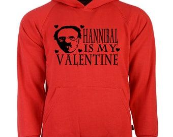 Hannibal Lecter Silence of the Lambs Valentine's Day Unisex Hoodie Pullover Sweatshirt Sizes Colors Custom Horror Halloween Merch Massacre