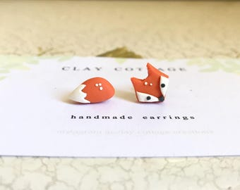 Fox and Tail mismatch earrings