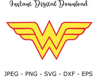 Wonder woman jpeg etsy wonder woman superhero svg dxf png vector cut file cricut design silhouette vinyl decal disney party pronofoot35fo Image collections