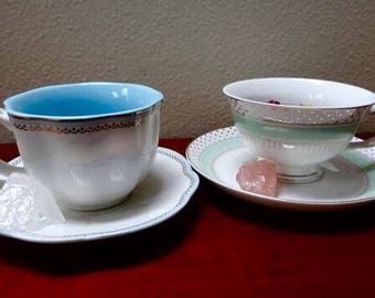 Self Love Floral Tea with Tea Cup and Crystal