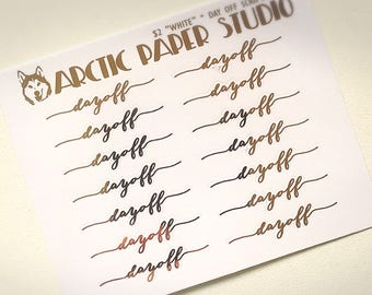 Day Off Scripts (NS) - FOILED Sampler Event Icons Planner Stickers