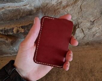 Concealed Carry minimalist wallet, front pocket wallet, mens wallet, mens leather wallet, womens wallet, slim leather wallet, card wallet