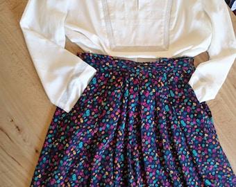 SK & Company polka dot picnic skirt