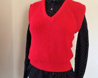 Atlas vintage red sweater vest