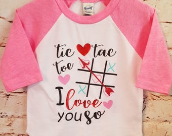 valentine's tic tac toe shirt