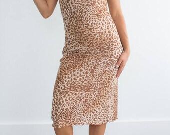 90s leopard maxidress