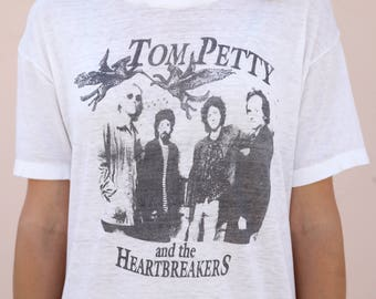 Authentic Vintage // 1980's Tom Petty & the Heartbreakers Threadbare T-shirt tee