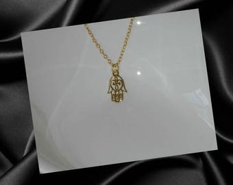 Hamsa Hand Necklace,Gold Hamsa Hand Necklace Pendant,Gold Hand Of Fatima Necklace,Hand Of Fatima Jewelry,Hamsa Hand Jewelry,Hand Of Miriam