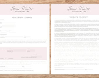 Photography Contract, Templates for Photographers, INSTANT DOWNLOAD! Session Contract Template for Photographer,