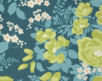 Free Spirit Floral Joel Dewberry - Flora - Rose Bouquet - Eucalyptus/Cotton SATEEN& CANVAS/Fabrics / Sewing