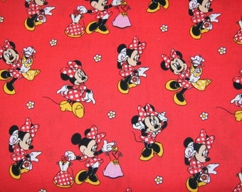 Minnie Mouse Cotton Fabric  SHIPS FAST Disney fabric Teal fabric for quilting, sewing clothing crafts low price  free shipping available