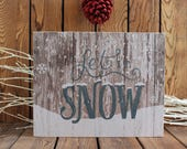 Let It Snow, Christmas Decoration, Christmas Wood Signs, Christmas Decor, Christmas Sign,Rustic Christmas,Christmas Gift,Holiday Decor,Frame