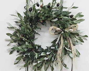 Artificial Olive Door Wreaths / Door Decor / Front Door Decor / Door Hanger  / Wall