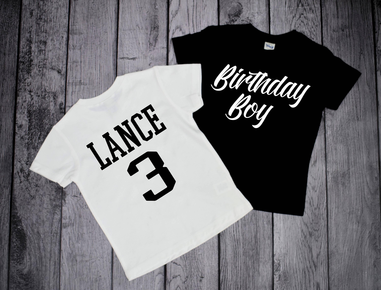 3 Year Old Birthday Boy Shirt Boys 3rd Three E10190947033285225M