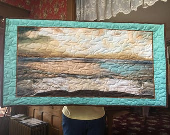 Ocean side hanging quilt