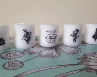 alice in wonderland candle set