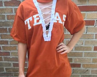 Texas Longhorns Lace Up Shirt