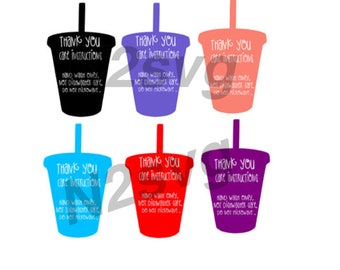 Tumbler care instructions  svg  Cut and Print  . Digital file . tumbler svg