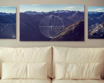 Geometrical Mountain Landscape Photography - Art - Canvas Prints