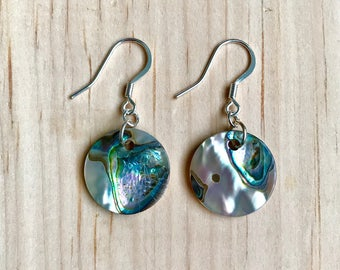 Round Abalone Earrings
