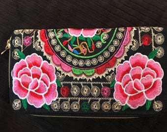 Pink and white double wallet