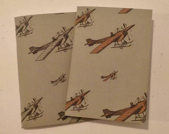 Notebook Vintage planes. Black and white printing