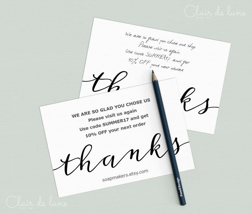 simply stated instant download thank you cards editable pdfpackaging gift enclosures for