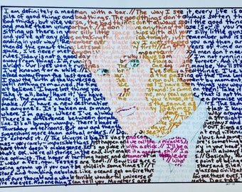 The Eleventh Doctor Text Drawing