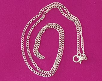 Necklace chain with clasp 2x3mm 46cm