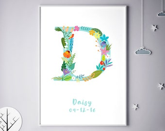 Personalized Baby Gifts, Personalized Prints, Danielle, Daisy, Dawn, Diana, Personalized Poster, Baby Shower, Baby Gift, Birthday