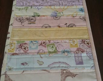 MINI Quilted Table Runner, Sweet Reverie by Boundless Fabrics, Table Topper, Table decor, Handmade, Centerpiece, Coffee Table, Runner