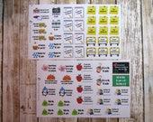 School year stickers, School planner stickers, Back to school stickers, school days stickers, school stickers, reminder stickers