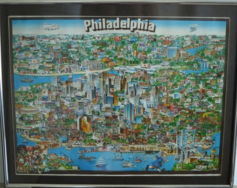 Vintage 1980 Philadelphia City Character Poster