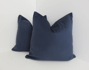 Brushed Canvas Pillow Covers- Mightnight Pillow- Navy Blue Pillow- Soft Pillow Cover- Blue Pillow- Accent Pillow