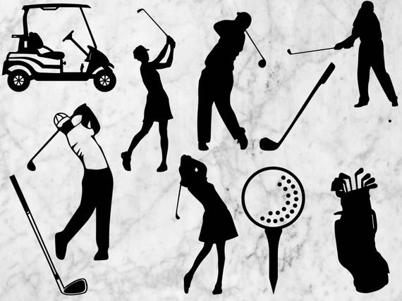 Download Golf SVG Cutfile Golf Silhouette Vector Dxf files eps for