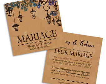 100 x lanterns wedding invitation