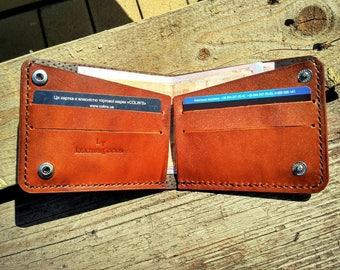 Slim leather custom man wallet