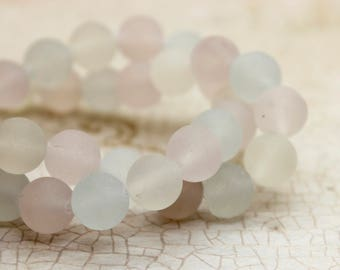 Fluorite Matte Round Gemstone Beads