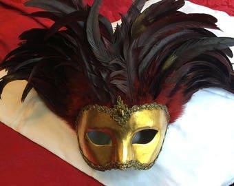 Si Lucia Mens Italian Carnevale Mask