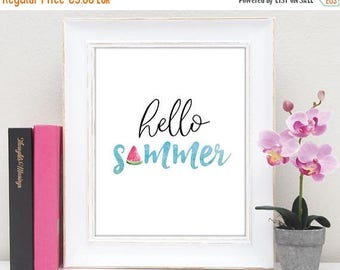 50% OFF summer wall art, summer print, summer home decor, summer printable, gift ideas, beach decor, unique gift, home decor, wall art, art