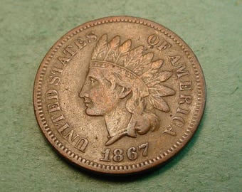 1867 Indian Head Cent   Fine Plus / Insurance included in SH  <>ET5365