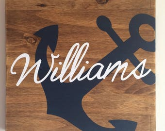 Personalized family sign * Anchor Family Sign * Welcome Anchor