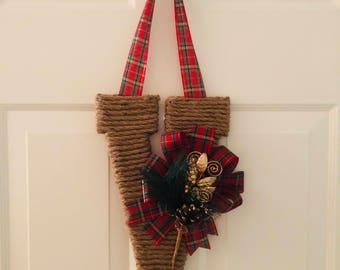 Christmas Mongrammed Wreath