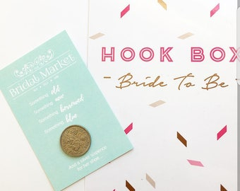 Lucky sixpence - bride to be - sixpence card - wedding tradition - something old - bride gift / present