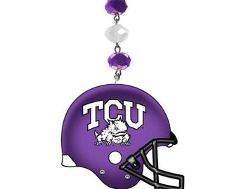 TEXAS CHRISTIAN University *Football Helmet* MAGNETIC Ornament,Tcu Home Decor,Tcu Horned Frogs Decor, Tcu Ornament,Tcu horned Frogs