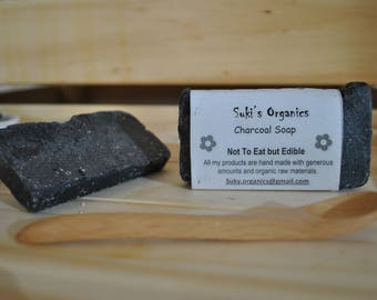 Eucalyptus Activated Charcoal Soap Bar, Natural and Handmade Soap, Organic Oils, Palm Oil Free, Vegan, Face Soap, Acne Soap, Oily Skin Soap