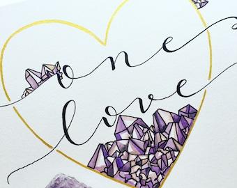One Love Amethyst - Original Watercolor