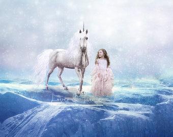 Unicorn Digital Background - Instant Download